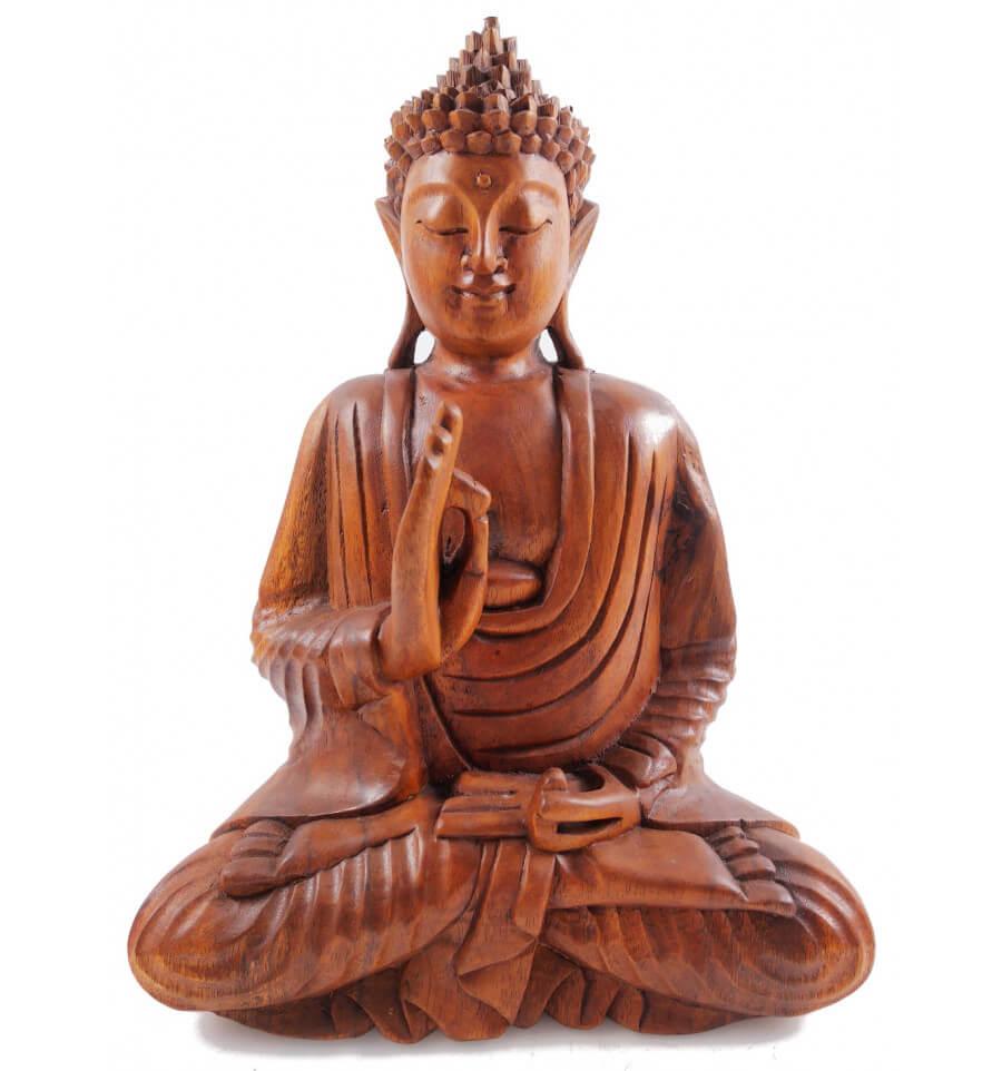 statue-de-bouddha-assis-en-bois